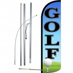 Golf With Ball Windless Swooper Flag Bundle
