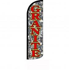 Granite Stone Background Windless Swooper Flag