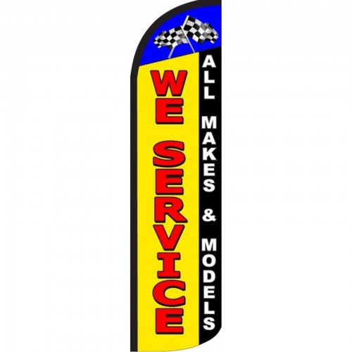 We Service All Makes And Models Windless Swooper Flag Sw11595 By Www Neoplexonline Com