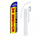 We Service All Makes and Models Windless Swooper Flag Bundle