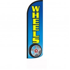 Wheels Blue Windless Swooper Flag