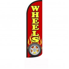 Wheels Red Windless Swooper Flag