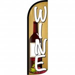 Wine Beige Windless Swooper Flag