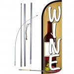 Wine Beige Windless Swooper Flag Bundle