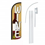 Wine Beige Windless Swooper Flag Bundle