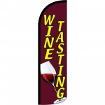 Wine Tasting Red Windless Swooper Flag