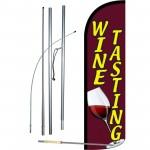 Wine Tasting Red Windless Swooper Flag Bundle