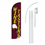 Wine Tasting Red Windless Swooper Flag Bundle