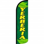 Yerberia Green Windless Swooper Flag
