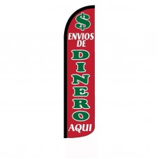 Envios De Dinero Red and Green Extra Wide Swooper Flag