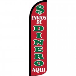 Envios De Dinero Aqui Red Windless Swooper Flag