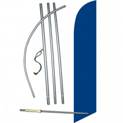 Solid Dark Blue Windless Swooper Flag Bundle