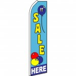 Sale Here Balloon Swooper Flag