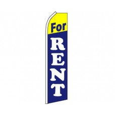 For Rent Blue Yellow Swooper Flag