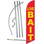 Live Bait Red Windless Swooper Flag Bundle