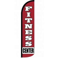 Fitness Center Red Windless Swooper Flag