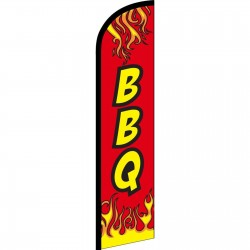 BBQ Red Flames Windless Swooper Flag
