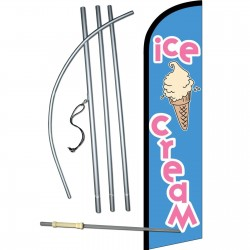 Ice Cream Blue Vanilla Windless Swooper Flag Bundle