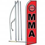 MMA Mixed Martial Arts Swooper Flag Bundle