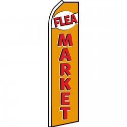 Flea Market Gold Red Swooper Flag