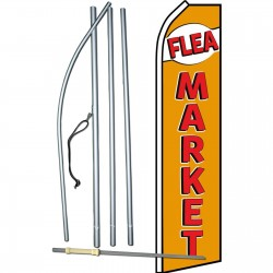 Flea Market Gold Red Swooper Flag Bundle