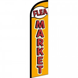Flea Market Gold Red Windless Swooper Flag