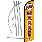 Flea Market Gold Red Windless Swooper Flag Bundle