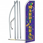 Mardi Gras Masks Beads Swooper Flag Bundle