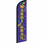 Mardi Gras Masks Beads Windless Swooper Flag