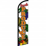 Fresh Produce Veggies Windless Swooper Flag