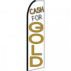 Cash For Gold White Extra Wide Swooper Flag