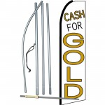 Cash For Gold White Extra Wide Swooper Flag Bundle