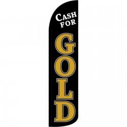 Cash For Gold Black Windless Swooper Flag