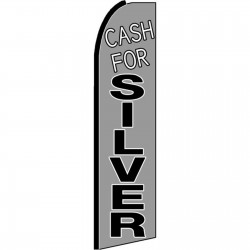 Cash For Silver Extra Wide Swooper Flag