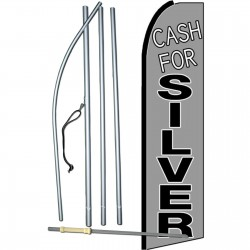 Cash For Silver Extra Wide Swooper Flag Bundle
