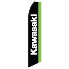Kawasaki Black Green Swooper Flag