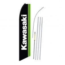 Kawasaki Black Green Swooper Flag Bundle