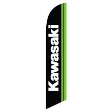 Kawasaki Black Green Windless Swooper Flag