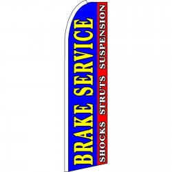 Brake Service Blue Extra Wide Swooper Flag