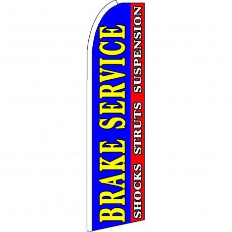 Brake Service Blue Extra Wide Swooper Flag