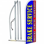 Brake Service Blue Extra Wide Swooper Flag Bundle