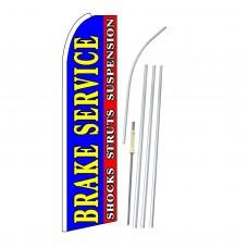 Brake Service Blue Extra Wide Swooper Flag Bundle