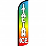 Italian Ice Rainbow Windless Swooper Flag