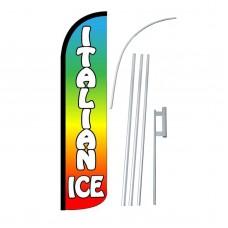Italian Ice Rainbow Windless Swooper Flag Bundle