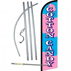 Cotton Candy Windless Swooper Flag Bundle