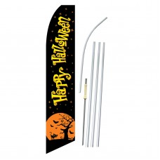 Happy Halloween Black Moon Swooper Flag Bundle