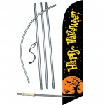 Happy Halloween Black Moon Windless Swooper Flag Bundle