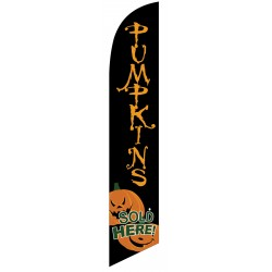 Pumpkins Sold Here Windless Swooper Flag