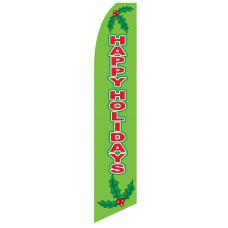 Happy Holidays Mistletoe Swooper Flag
