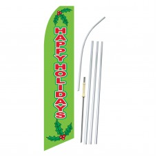 Happy Holidays Mistletoe Swooper Flag Bundle
